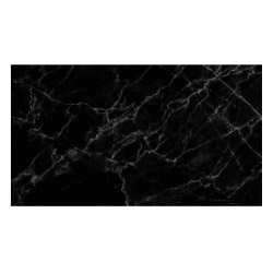 Vinyl Teppich MATTEO 90x160 cm Marmor Schwarz
