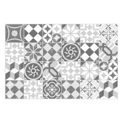 MATTEO Vinyl Teppich 60x90 cm - Mosaik Grau