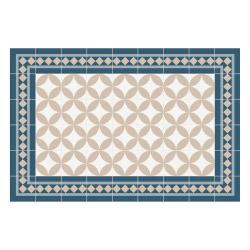 Vinyl Teppich MATTEO 60x90 cm Fliesen 2 Blau