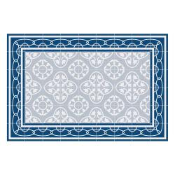 Vinyl Teppich MATTEO 60x90 cm Fliesen 8 Blau