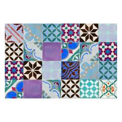 Vinyl Teppich MATTEO 60x90 cm Mosaik Bunt 2