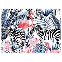Tischset Vinyl Flamingo & Zebra