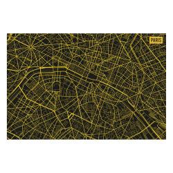 Vinyl Teppich MATTEO 60x90 cm Paris City Map Gelb