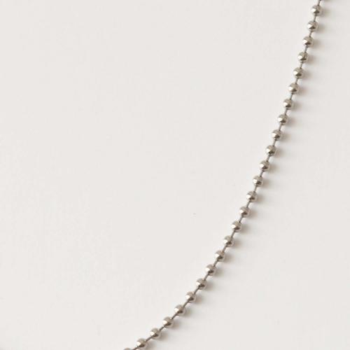 Kugelkette . Halskette 60cm Edelstahl
