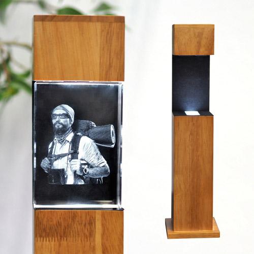 Leuchtstele Holz M hoch für 100x70x60 hoch