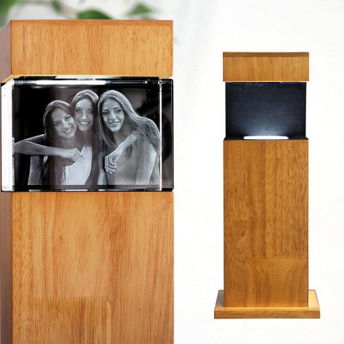 Leuchtstele Holz L quer für 130x90x75 quer