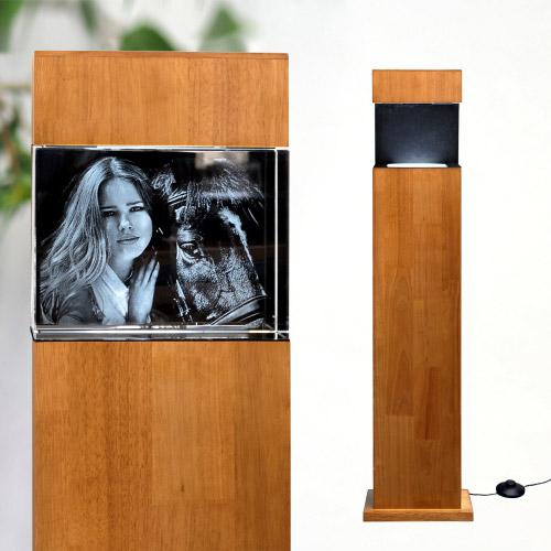 Leuchtstele Holz XL quer für 200x150x100 quer
