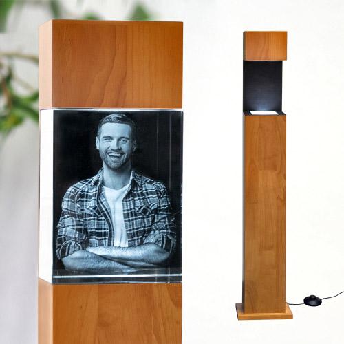 Leuchtstele Holz XL hoch für 200x150x100 hoch