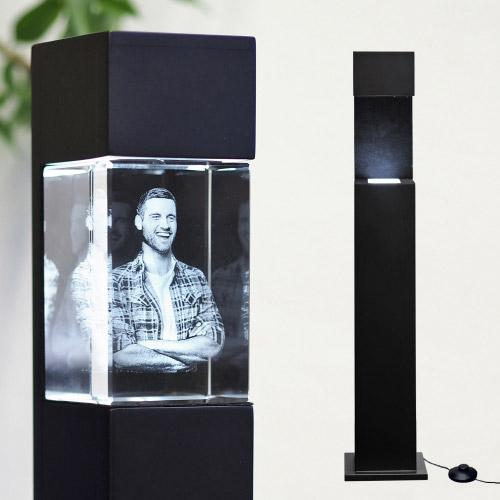 Leuchtstele Schwarz XL hoch für 200x150x100 hoch