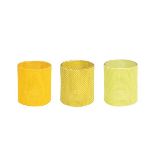 Teelichtgläser Marah gelb