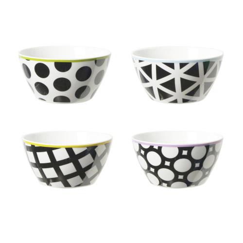 Porzellanschalen Cool Black Schwarz-Weiß