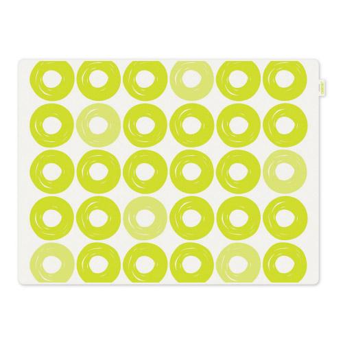 Tischset Jay grüne Ringe