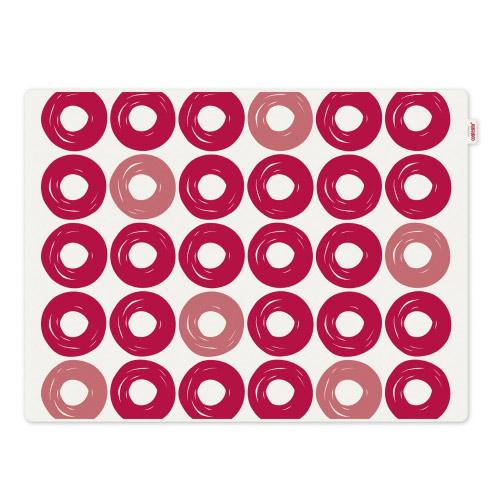 Tischset Jay rote Ringe