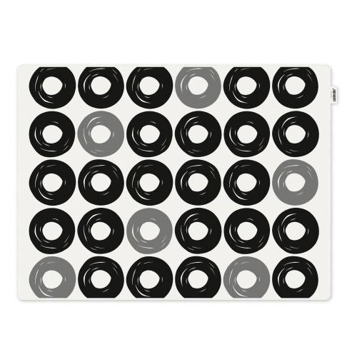 Tischset Jay schwarze Ringe