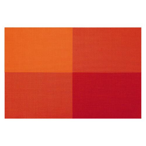 4 Tischsets Zarah orangene Rechtecke