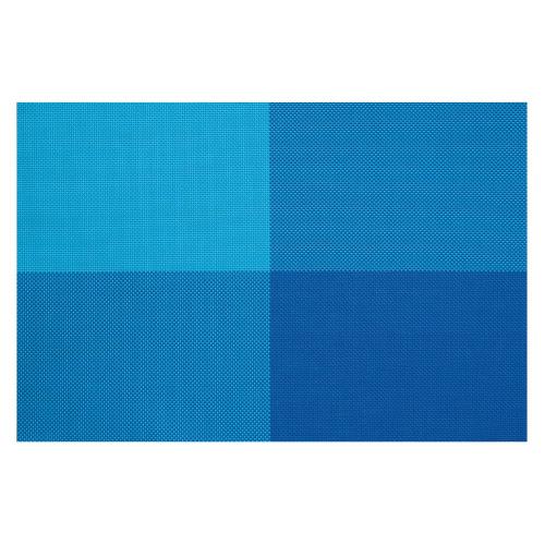 4 Tischsets Zarah blaue Rechtecke