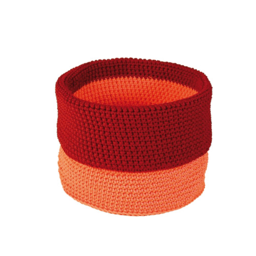 Allround Korb orange-rot M