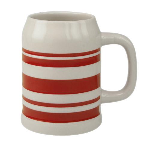 Bierkrug Sepp rote Streifen