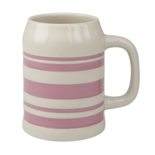 Bierkrug Sepp rosa Streifen