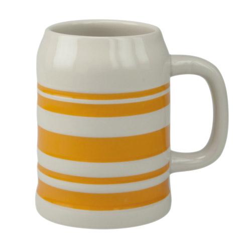 Bierkrug Sepp orangene Streifen