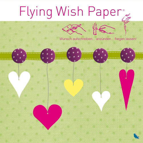Flying Wish Paper Hearts II