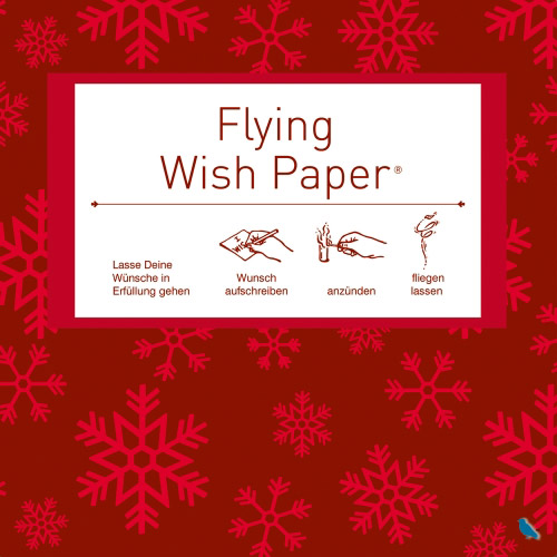 Flying Wishpaper Mini - Schneeflocken