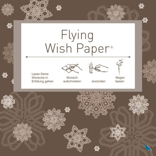 Flying Wishpaper Mini - Sterne braun