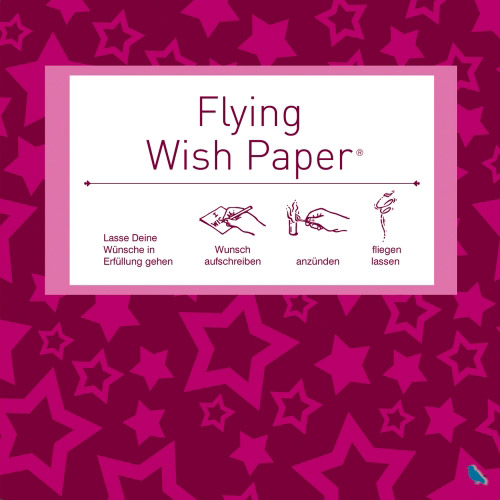 Flying Wish Paper Mini - Sterne pink
