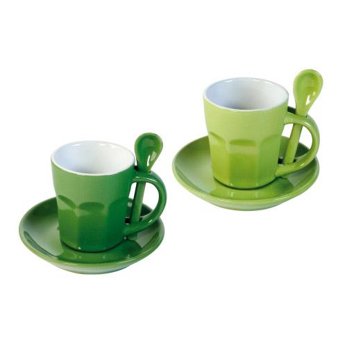 Kaffee-Set Intermezzo grün-dunkelgrün