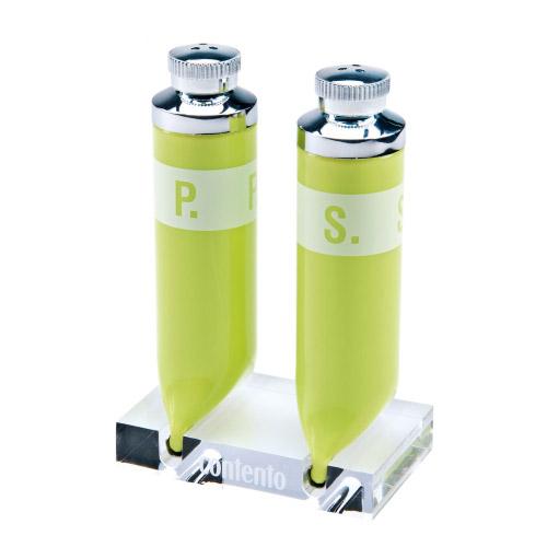 Pfeffer und Salzstreuer P.S. grün