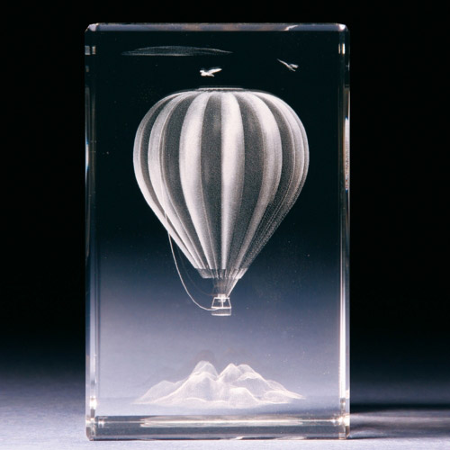 Glasblock - Heissluftballon