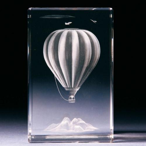 Glasblock - Heissluftballon