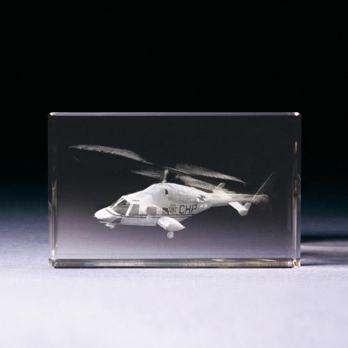 Glasblock - Hubschrauber - Bell