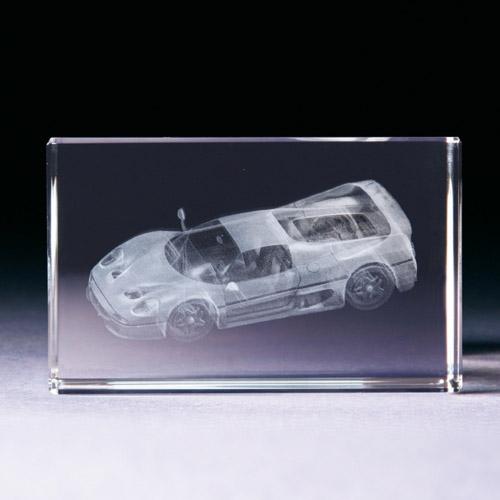 Glasblock - Sportwagen