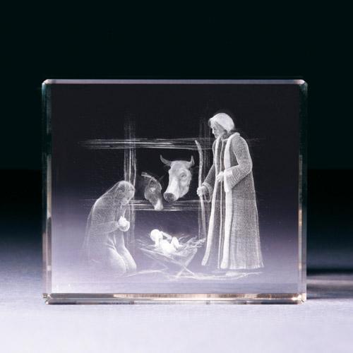 Glasblock - Weihnachtskrippe