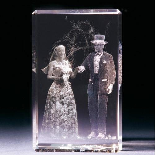 Glasblock - Brautpaar