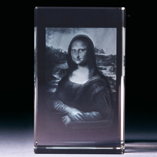 Glasblock - Mona Lisa