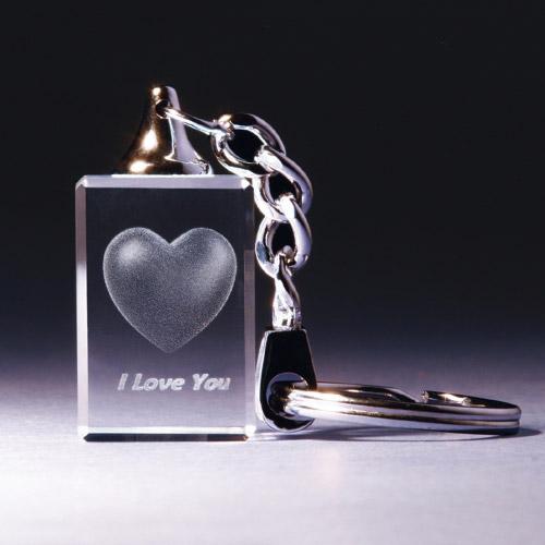 Schlüsselanhänger - Herz - I Love You