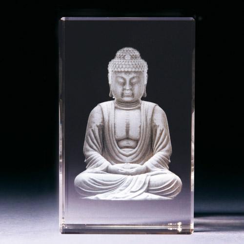 Glasblock - Buddha