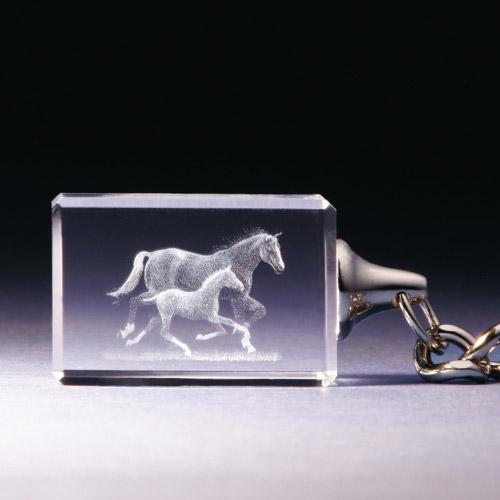 Schlüsselanhänger - Pferd mit Fohlen