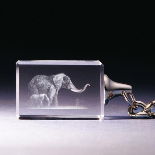 Schlüsselanhänger - Elefant mit Baby