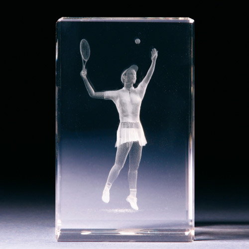 Glasblock - Tennisspielerin