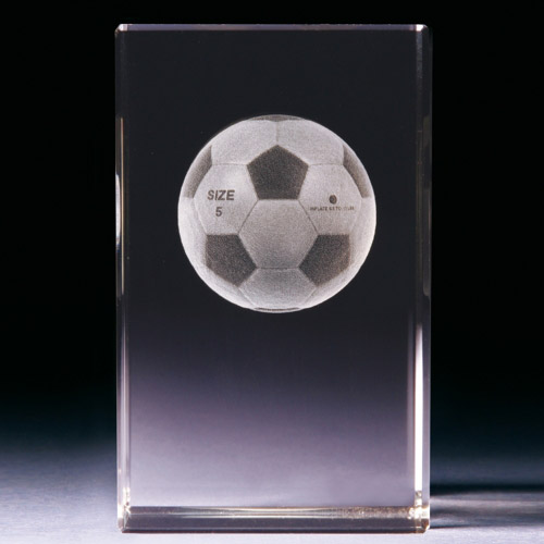 Glasblock - Fussball