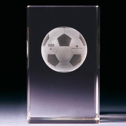 Glasblock - Fussball
