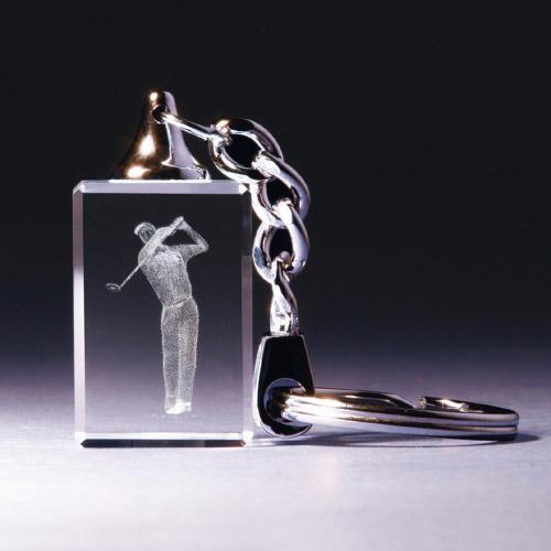 Schlüsselanhänger - Golfer beim Abschlag