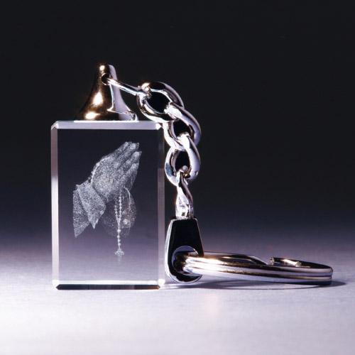 Schlüsselanhänger - Betende Hände mit Rosenkranz