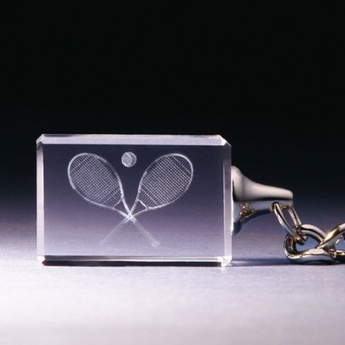 Schlüsselanhänger - Tennisschläger