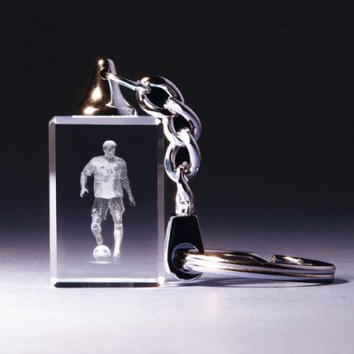 Schlüsselanhänger - Fussballer dribbelnd