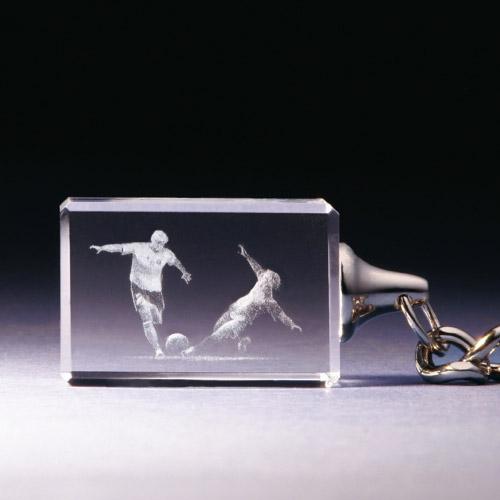 Schlüsselanhänger - Fussball Zweikampf