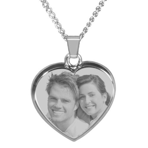 Halskette mit Gravur Herz - silber